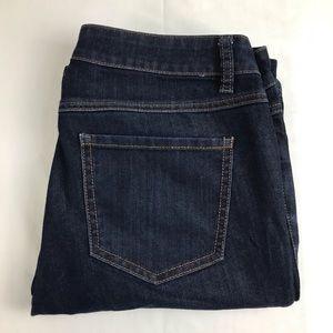 CAbi Womens Size 6 Blue Dark Wash Boot Cut Jeans